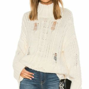NEW Current/Elliott The Vin Cable Knit Sweater XS